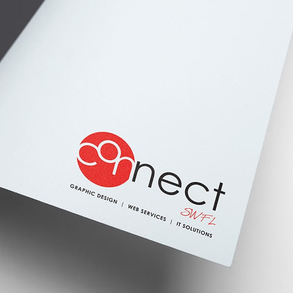 Connect SWFL logo printed as a letter footing.