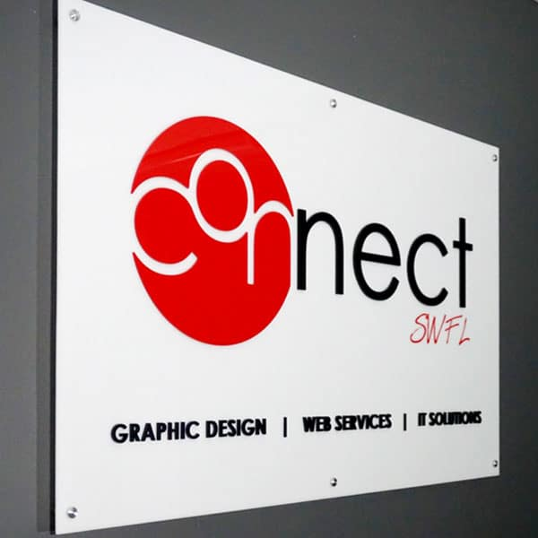 The Connect southwest Florida sign.