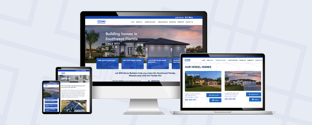 Latest Website Redesign for DMI Home Builders